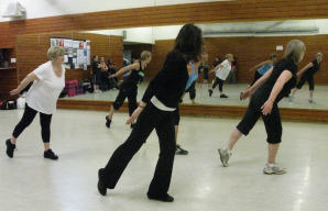 Zumba class at Gosling Sports Park, Hertfordshire