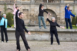 Tai Chi in the grounds of Bowes Museum, Co Durham
