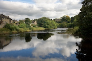 The River Tees runs through Barnard Castle, Co Durham