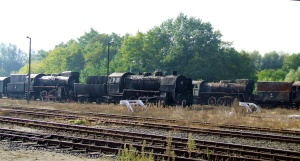 A sad row of discarded locos