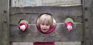 Aeryn in the stocks