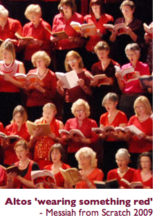 Altos wearing something red Messiah from Scratch 2009