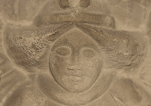 Carving on 15th century font  © Pintail Media