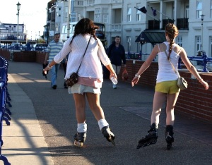 Skating along Eastbourne promenade © Pintail Media
