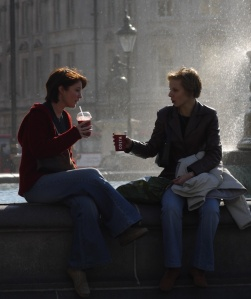 Welcome break, Trafalgar Square